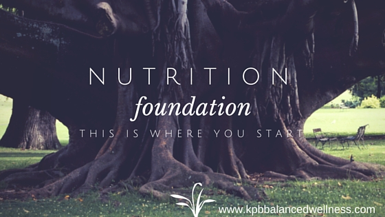 Nutrition Foundation: This is Where You Start