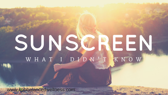 Sunscreen: What I Didn't Know